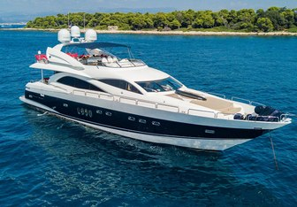 Excelerate Z charter yacht interior designed by Bannenberg & Rowell