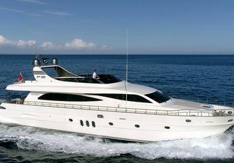 Effe charter yacht interior designed by Achille Salvagni