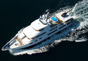 Leight Star charter yacht interior designed by Douglas Sharp