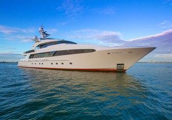 Usher charter yacht exterior designed by Delta Design Group