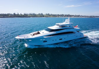 Paradise charter yacht exterior designed by Espinosa Yacht Design