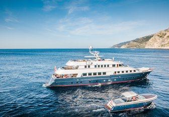 Chesella charter yacht interior designed by Adam Lay Studio & Birgitta Sylvan Hedvall