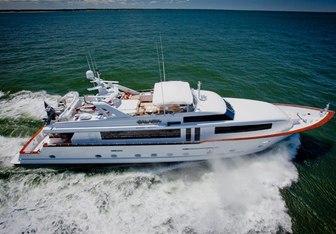 True Blue charter yacht exterior designed by Broward