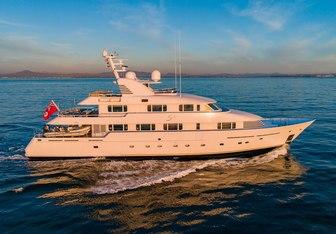 Lohanka charter yacht interior designed by Felix Buytendijk Yacht Design