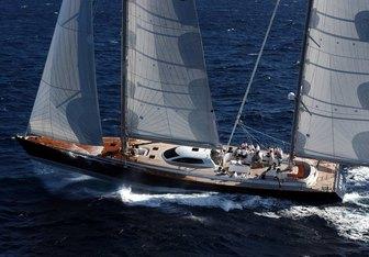 Sojana charter yacht interior designed by Design Unlimited