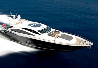 Blade 6 charter yacht exterior designed by Don Shead Yacht Design