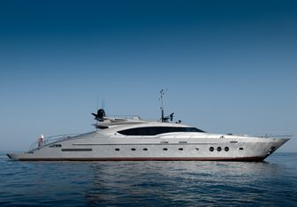 Izumi charter yacht exterior designed by Nuvolari Lenard
