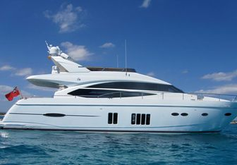 Euphoria of London yacht charter Princess Motor Yacht
