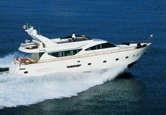 Riviera charter yacht interior designed by Alessandro Vescia