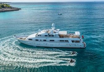 Lionshare charter yacht interior designed by Art Line & Clifford Denn