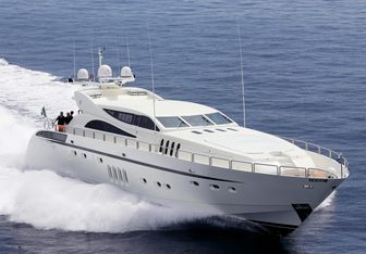 Leopard charter yacht exterior designed by Andrea Bacigalupo