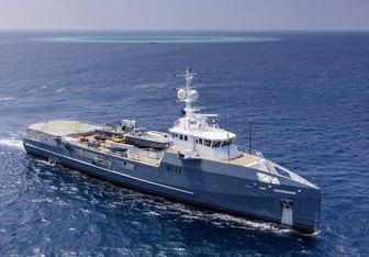 Dapple charter yacht interior designed by Damen Yachting