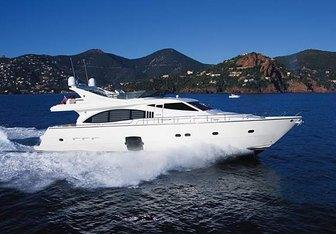 Debra One yacht charter Ferretti Yachts Motor Yacht