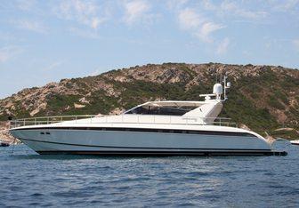 Eden Erina charter yacht interior designed by Arno