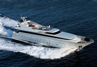 Kintaro charter yacht exterior designed by Cantieri di Pisa