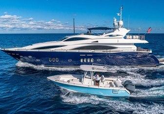 Kefi yacht charter Sunseeker Motor Yacht