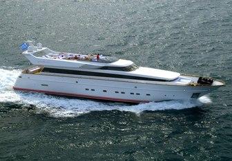 Benik charter yacht exterior designed by Cantieri di Pisa