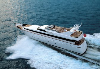 Shooting Star Delta charter yacht exterior designed by Cantieri di Pisa