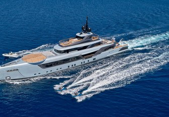Geco charter yacht exterior designed by Admiral Yachts