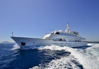Number Nine charter yacht exterior designed by De Vries Lentsch