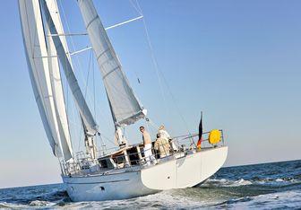 Helene charter yacht interior designed by Dixon Yacht Design