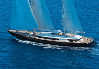 Asahi yacht charter Perini Navi Sail Yacht