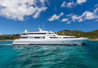 Vision charter yacht exterior designed by Angus Edwards