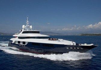 Burkut yacht charter Baglietto Motor Yacht