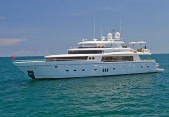 Lorax charter yacht interior designed by Dixon Yacht Design