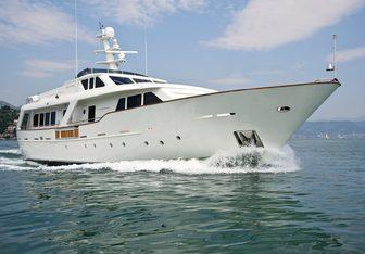 Mrs White yacht charter Benetti Sail Division Motor Yacht