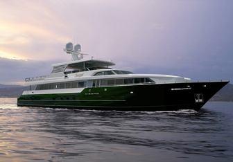 Serque charter yacht exterior designed by Donald L. Blount & Associates & Broward