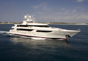 Sheherazade charter yacht exterior designed by Donald Starkey