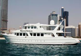 Empros 100 Yacht Charter in Abu Dhabi