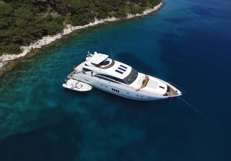 66° Above yacht charter Princess Motor Yacht