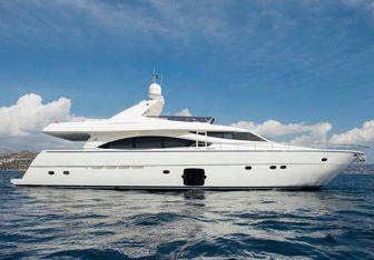 Julie M yacht charter Ferretti Yachts Motor Yacht