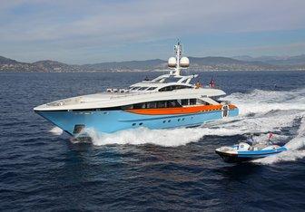 Aurelia charter yacht interior designed by Bannenberg & Rowell