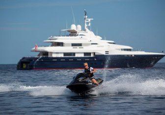 Alaska of George Town charter yacht exterior designed by Bernie Cohen Design