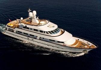 Callista charter yacht interior designed by Diana Yacht Design