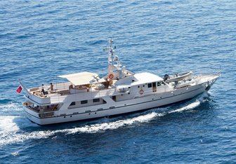Shaha charter yacht exterior designed by André Mauric