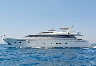 Lucy Pink yacht charter Falcon Motor Yacht
