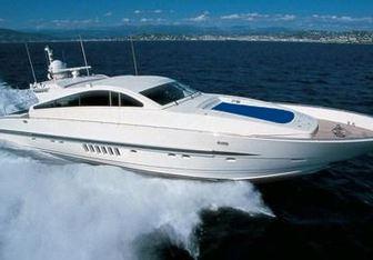 Cafe del Mar yacht charter Leopard Motor Yacht