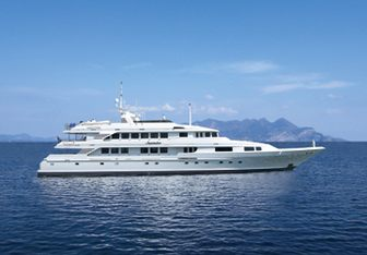 Inspiration charter yacht exterior designed by Broward