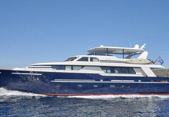 Mia Zoi charter yacht exterior designed by De Vries Lentsch