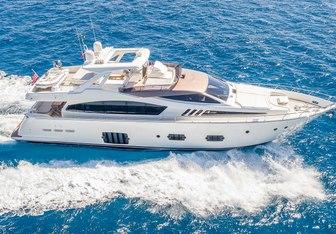 Bella Rona yacht charter Ferretti Yachts Motor Yacht
