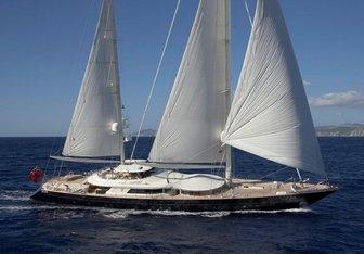 La Luna yacht charter Perini Navi Sail Yacht