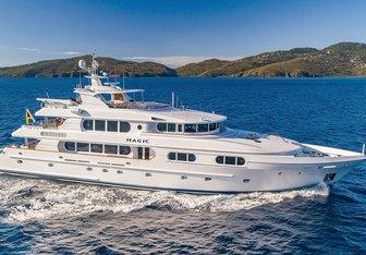 Magic charter yacht interior designed by Setzer Design Group & Ardeo Design