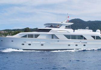 Gilaine O yacht charter Hatteras Motor Yacht