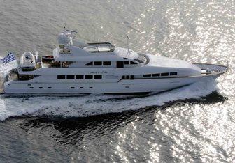 Destiny charter yacht exterior designed by Broward