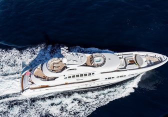 My Secret charter yacht interior designed by Bannenberg & Rowell