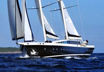 Tuyika S charter yacht exterior designed by Ertug Yacht Design